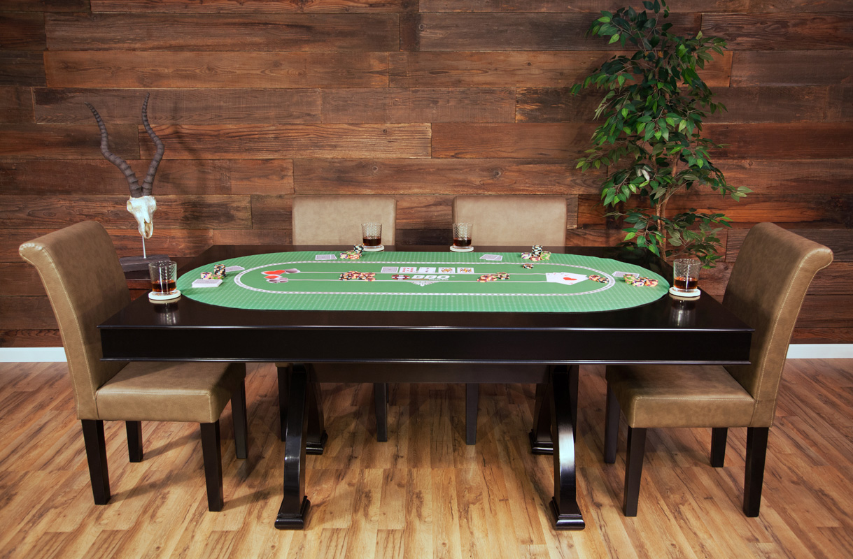 Portable Poker Party Mat   Green