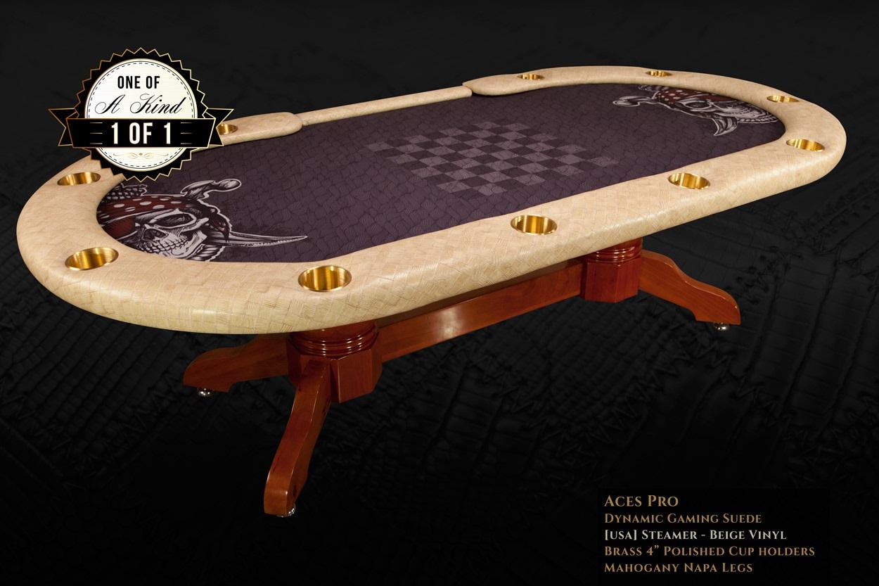 custom 6 player poker tables
