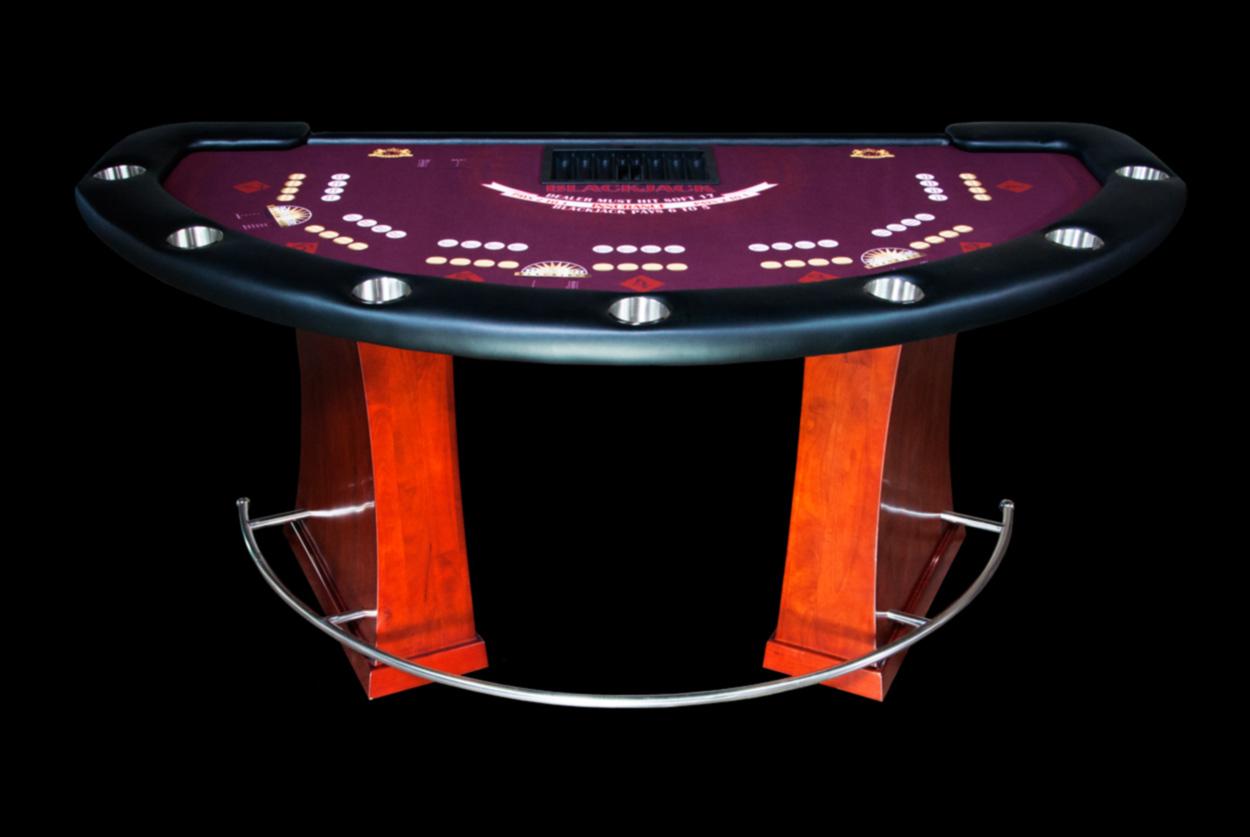 Blackjack table shufflers