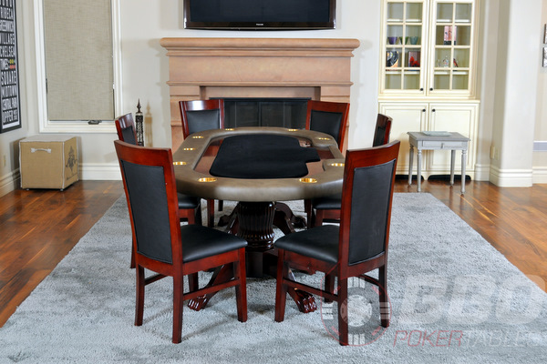 IN STOCK. Classic Poker Table Chairs ... & Classic dining poker chair - matching black gloss and mahogany finish.